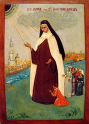 A painting of Bl. Anne of Saint-Bartholomew in Antwerp