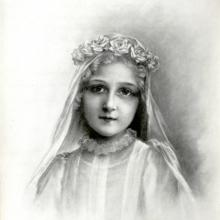 Therese's First Communion of Therese drawn by Celine